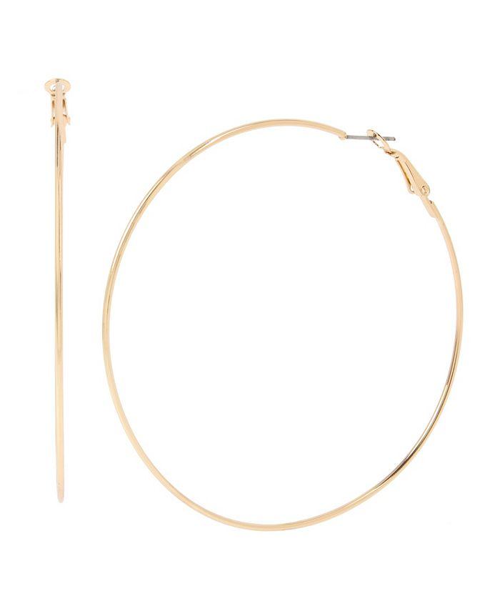"""Jessica Simpson - Large Wire Hoop Earrings, 3"""""""