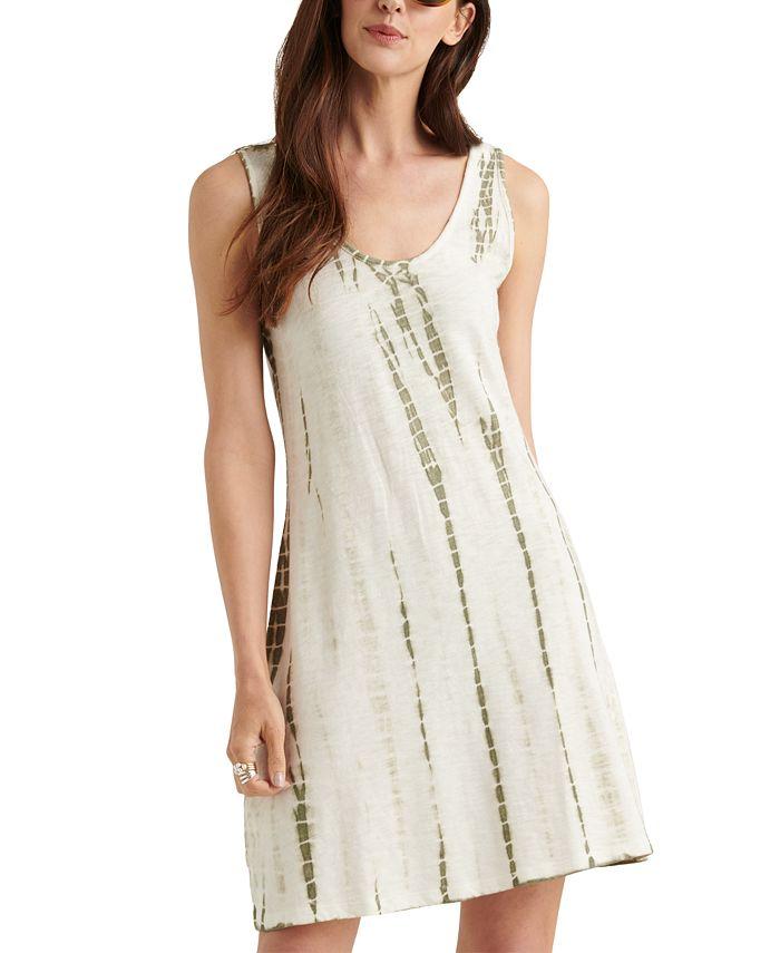 Lucky Brand - Cotton Printed Knit Tank Mini Dress