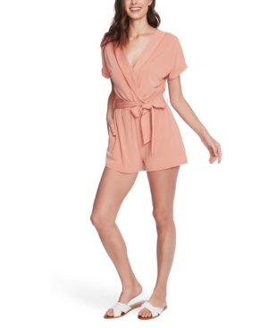 Image of 1.state Belted Cuffed-Sleeve Romper