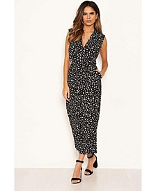 Women's Ditsy Wrap Jumpsuit
