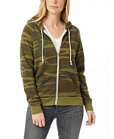 Adrian Printed Eco-Fleece Women's Zip Hoodie