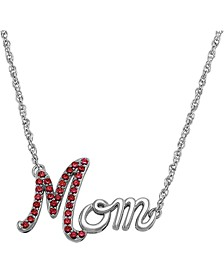 "Lab-Created Ruby (1/3 ct.t.w.) Mom 19"" Pendant Necklace in Sterling Silver"