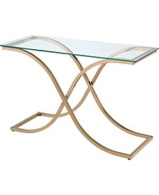 Sarif Glass Top Console Table