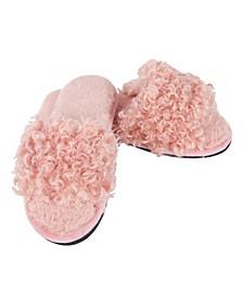 C'Est Bon Open Toe Plush Slippers