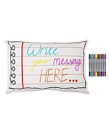 Doodle Notebook Pillowcase