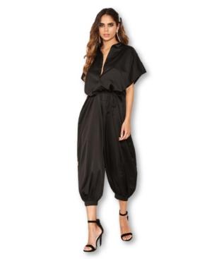 70s Jumpsuit | Disco Jumpsuits, Sequin Rompers Ax Paris Womens Button Up Jumpsuit $31.99 AT vintagedancer.com