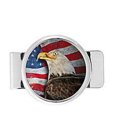 American Bald Eagle Colorized JFK Half Dollar Money Clip