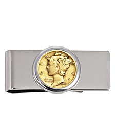 Coin Money Clip with Gold-Layered Silver Mercury Dime