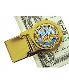 Coin Money Clip with Colorized Army Washington Quarter