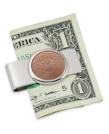 Austrian Primrose Five Cent Euro Coin Money Clip
