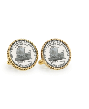 2004 Keelboat Rope Bezel Coin Cuff Links