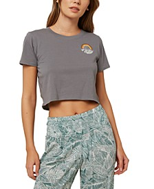 Juniors' Shelladelic Cotton Cropped T-Shirt
