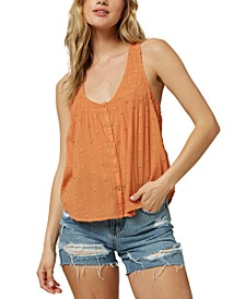 Juniors' Maria Cotton Textured Tank Top