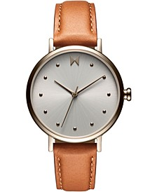 Women's Nomad Land Brown Leather Strap Watch 36mm