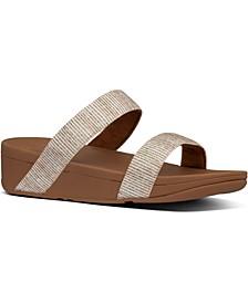 Lottie Glitter Stripe Sandals