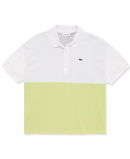 Lacoste Half-Sleeve Colorblocked Polo Shirt