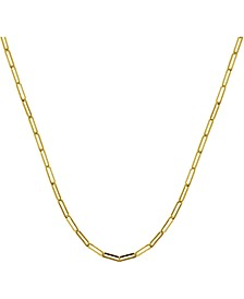 "Paper Clip Link 18"" Chain Necklace"