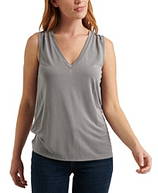 V-Neck Sand-Wash Tank Top