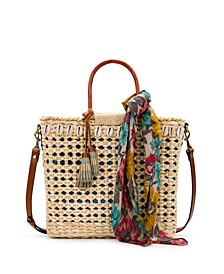 Ceriana Square Straw Satchel