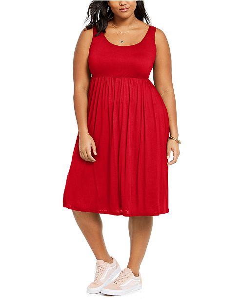 Love Squared Trendy Plus Size Tank Midi Dress
