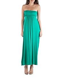 Strapless Empire Waist Maxi Dress