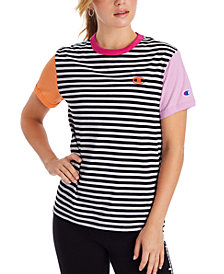 Champion Women's Campus Striped Ringer T-Shirt
