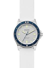 Women's Fisk White Silicone Strap Watch 38mm