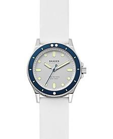 Women's Fisk White Silicone Strap Watch 38mm