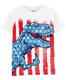 Little Boys Dinosaur Flag-Print Cotton T-Shirt