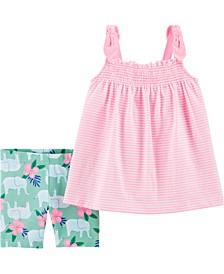 Baby Girls 2-Piece Tank and Short Set