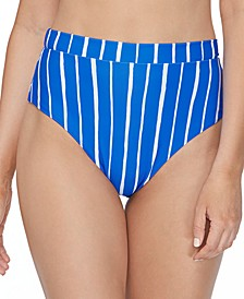 Juniors' Shore Thing Tropics High-Waist Bikini Bottoms