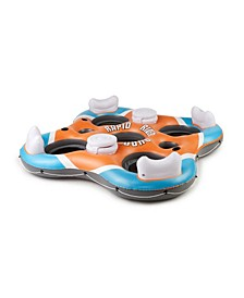 43115E Rapid Rider 4 Person Floating Island Raft with Coolers