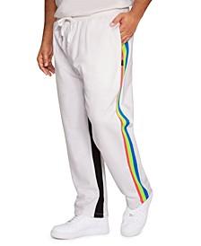 Men's Big Tall Neon Stripe Track Pants