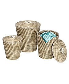 Set of 3 Nesting Seagrass Snake Charmer's Baskets