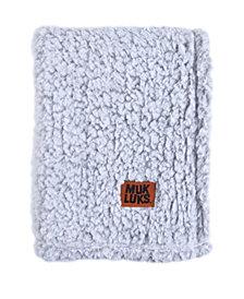 Muk Luks Super Soft Teddy Sherpa Baby Blanket