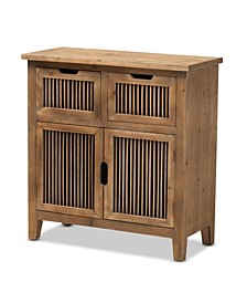 Clement Rustic Transitional 2 Door and 2 Drawer Spindle Accent Storage Cabinet