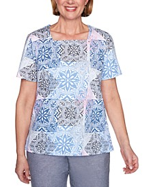 Petite Bella Vista Printed Top