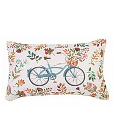 12x20 Fiona Fall Bike Floral Printed Pillow