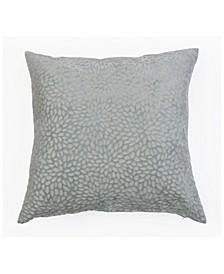 20x20 Evie Cut Velvet Pillow in Light Gray