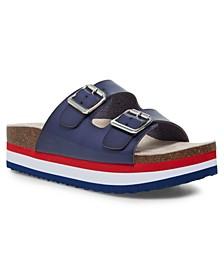 Purr Flatform Footbed Sandals