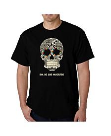 Men's Word Art - Dia De Los Muertos T-Shirt