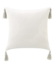 "Belline 20"" L X 20"" W Tassels Pillow"