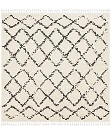 "Berber Shag BBE-2300 Charcoal 7'10"" x 7'10"" Square Area Rug"