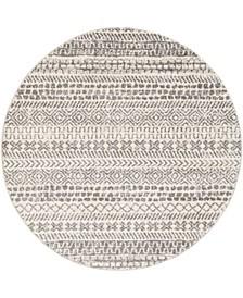 "Sunderland SUN-2304 Gray 5'3"" x 5'3"" Round Area Rug"