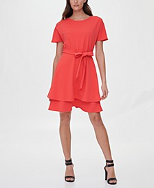Double-Tiered Fit & Flare Dress