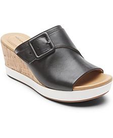 Women's Lyla Buckle Wedge Sandals