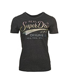 Real Original Glitter Embossed T-Shirt