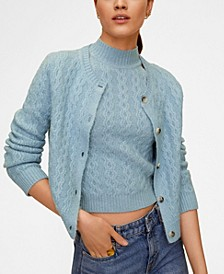 Combined Knitted Cardigan
