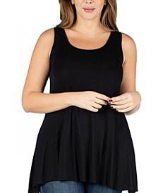Women's Plus Size Sleeveless Tunic Tank Top