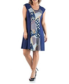 Women's Plus Size A Line Dress